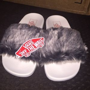 Vans Faux Fur Slides